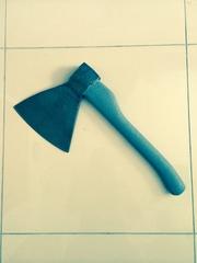 Топор для рубки мяса с пластиковой ручкой,  топор с пластиковой ручкой